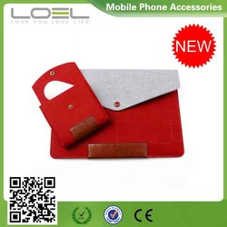 Wool Felt Tablet Case, Laptop Sleeve for iPad Pro and for Macbook Air/Pro