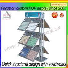 Free standing 3 floors acrylic price display shelf