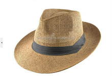 women straw hat/2015 beautiful girl paper straw hat with bowknot/new design wide brim paper straw hat
