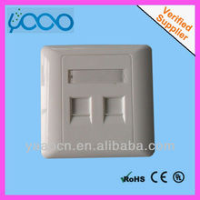two port dustproof systimax keystone dual port faceplate