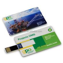 Special Promotional Free Logo Credit Card USB Flash Drive,Custom usb memory stick