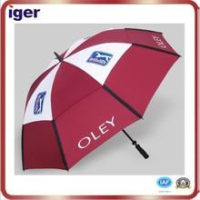 golf rain gear polyester waterproof fabric golf umbrella