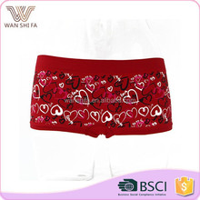 Comfortable design cute abstract heart printing sweet girl spandex sexy panty pics