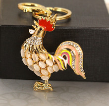2015 Small Rooster metal keychain For promotional gifts