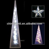PVC lighting christmas ornament, Christmas Decoration, LED PVC festival ornament