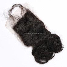 6A grade remy Malaysian hair Swiss lace funmi front closure piece with baby hair
