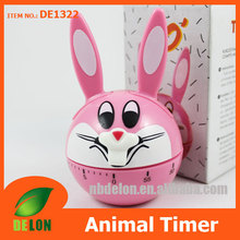 Rabbit shaped manual timer