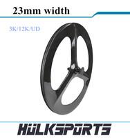 700c carbon tri spoke wheelset road bicycle or fix gear cycling with 3 spokes carbon three spoke bike wheels