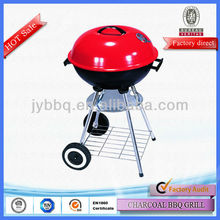 High quality 5-6 person parties wood trolley charcoal bbq