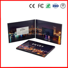 "2015 hot model custom 2.4"" inch business video brochure LCD music/MP4 invitation video greeting card"
