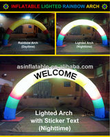 lighting inflatable arch for advertising for sale