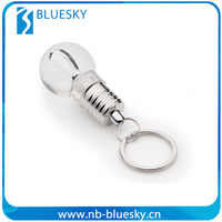 Bulb shape led light bulb key chain