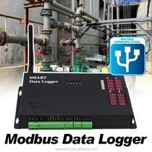 Multipoint temperature Modbus meter reading via GPRS Data Logger