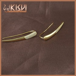 2015 fashion jewellery 925 sterling silver Gold plated special earring , earring ear stud