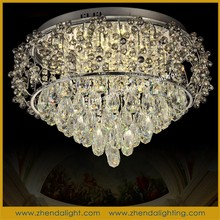 Hottest sale wonderful fancy shaped ceiling lighting lamp & pendant chandelier with clear k9 crystal for home decos