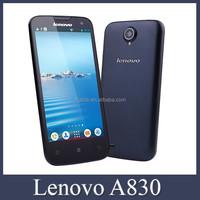 Original 5.0inch Lenovo A830 Phone MTK6589 Quad Core 1GB/4GB Dual SIM Support WCDMA 3G WIFI GPS Lenovo Smartphone
