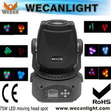 Hot Sale 75W LED Spot Moving Head,LED Spot 75W Moving Head Light,outdoor led spot light