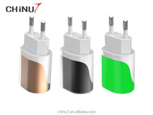 Wall Chargers With LED Light Adapter For Phone/ ipod/ Mobile phone 2015 Hot Selling Single USB Wall Chargers
