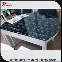 hot China round glass folding dining table