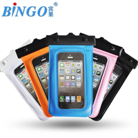 "Bingo pvc waterproof phone bag for universal smartphone 5.0"" factory wholesale price"