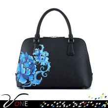 Chinoiserie Printing Cross Pattern Tote Bags
