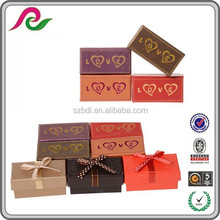 custom made hot stamping cardboard paper candy chocolate boxes wholesale