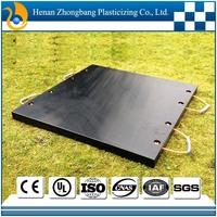 uhmwpe plastic outrigger pad/crane outrigger pad/plastic crane mats