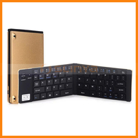 Portable Aluminum Sheel Ultra Thin Tablet Mobile Phone GK228 Folding Bluetooth Keyboard