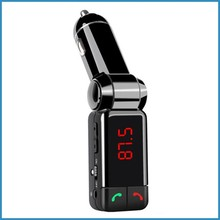 high quality Plastic bluetooth mp3 handsfree car kit with FM transmitter for car