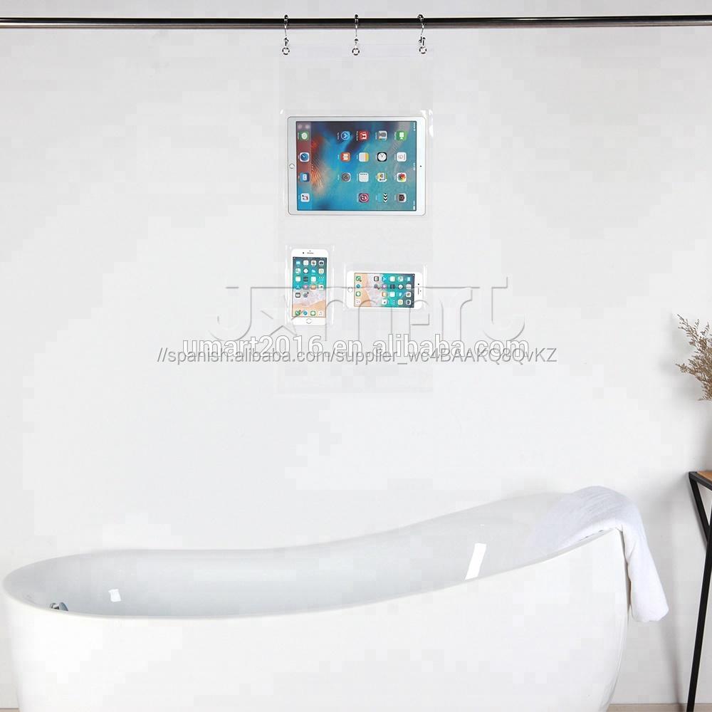 Eco amigable plástico transparente colgando baño ducha Caddy para pañales Caddy