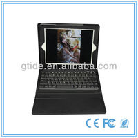 2013 new product Gtide KB553 leather case with bluetooth keyboard for 9.7 inch tablet pc