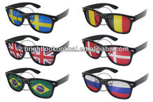 2015 New Style Promotion Pinhole Sunglasses With Custom Logo Printing on Lens Sunglasses JERRY