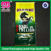 China Wholesale Custom Printing 25kg 50kg Plastic Packing Size PP Woven Rice Bag