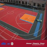 outdoor & indoor interlocking plastic floor basketball flooring prices