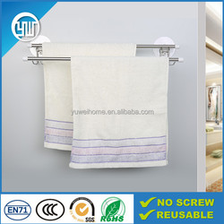 double metal heated towel bar for bathroom