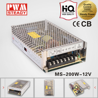 ce approved ac/dc 200W LED driver 12v MS-200 switch power supply made in China
