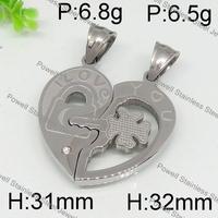 Best Selling Design silver heart shape enrave arrowhead pendants