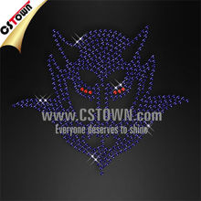 Evil devil rhinestone iron on transfers wholesale