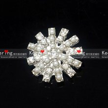 Christmas Snow Rhinestone Beads Button Garment WBK-1118