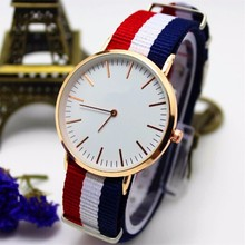 YX7077 Hot Europe Simple Original Nylon Strap Women Wrap Bracelet Watch