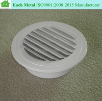Aluminum alloy single deflection round return air grille