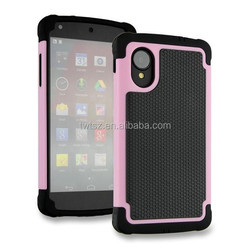 Wholesale 3 in 1 silicone protective case for LG Nexus5