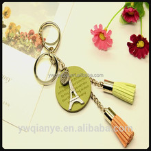 Beautiful accessory charms custom handmade leather tassel keychain