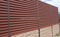 various type WPC(wood plastic composite ) fencing / red color fence / WPC fence board