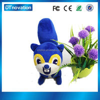 soft plush squirrel toys with voice changer box for kids