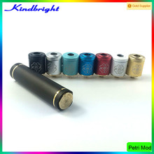 high quality Innovative Two-Post Design Petri mod with atomizer with 24K Gold Plated Brass Deck