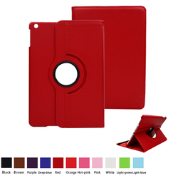 Multi-function PC+PU 360 Ratating Wallet Leather Case for iPad Case with Stand