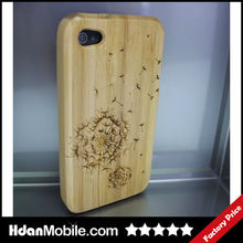 Dandelion Bamboo Mobile Phone Hard Shell Case for iphone 4 4S Phone Accessory