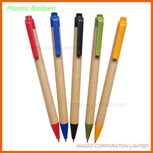 New Recycled Paper Cheap Plastic Ball Pens For Promotion