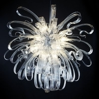 wholesale hand blown white crystal murano glass chandelier pendant
